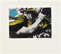 man with snake by john baldessari