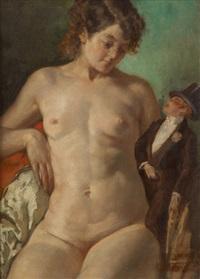 la femme au pantin by médard tytgat