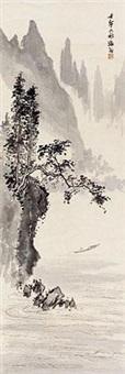 泛舟图 by liu haisu