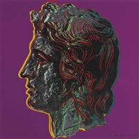 alexander the great : one plate by andy warhol