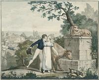 les amants surpris à l`abreuvoir - le mari n`y voit pas - la femme y voit trop - la punition du vol (4 works) by jean-pierre-marie jazet