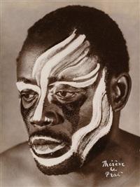 portrait d'un danseur de la côte d'ivoire by therese le prat