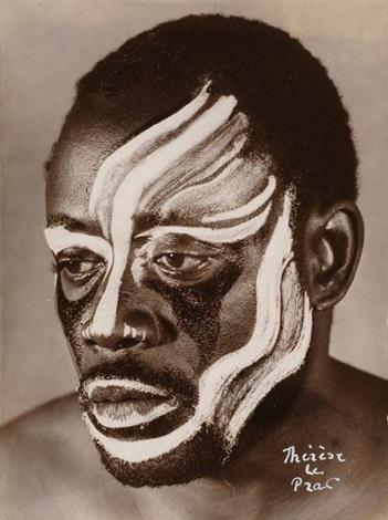 portrait dun danseur de la côte divoire by therese le prat