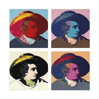 goethe (set of 4) by andy warhol