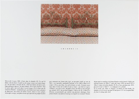 chambre 30 (4 mars) (diptych) by sophie calle