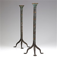 candlesticks (pair) by morgan colt