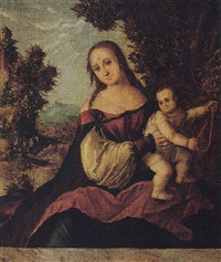 the virgin and child in a landscape by danube school (16)