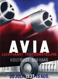 avia luchtvaart tentoonstelling houtrust den haag by kees van der laan