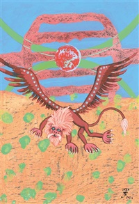 drache i, ii, iii, iv und v (5 works) by robert zeppel-sperl