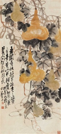 yellow gourds, leaves and scrolls by zhao yunhe