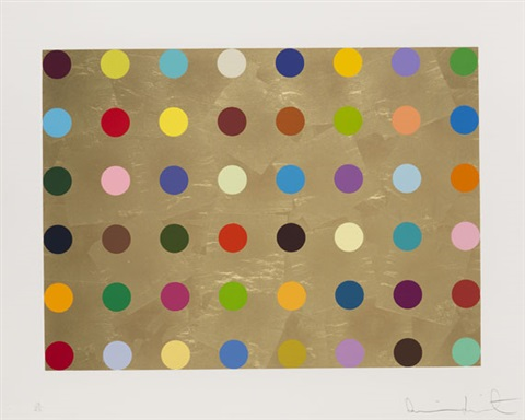 gold thioglucose by damien hirst