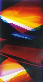 six color curl (cmmyyc: irvine, california, july 17th, fuji crystal archive type c), 2008 by walead beshty