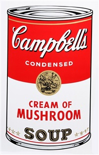 campbell's soup can: cream of mushroom by andy warhol