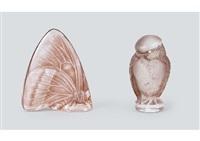 various cachets (set of 2) by rené lalique