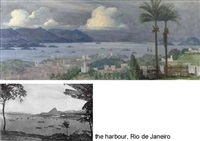 a panoramic view of rio de janeiro, brazil by ernst (vollbach) vollbehr