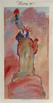statue of liberty 3 by peter max