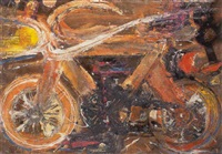 bicicleta naranja by rafael caballano