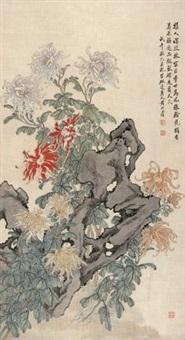 菊石图 by huang shanshou