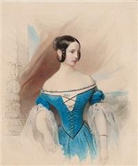 portrait of grand duchess alexandra nikolaevna by vladimir ivanovich hau