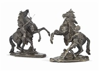 marly horses (pair) by guillaume coustou the elder