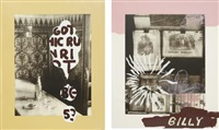 gothic run riot; and billy's first portrait of god (2 works) by julian schnabel