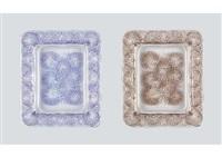 ashtray: bluets (set of 2) by rené lalique