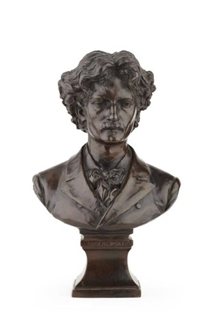 bust of ignacy jan paderewski by george edward wade