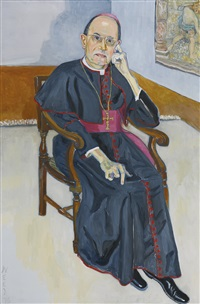 archbishop jean jadot by alice neel