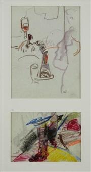 scènes de bistrot (2 works) by farid aouad