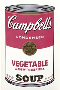 vegetable made with beef stock (from campbell's soup i) by andy warhol