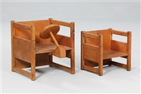 seats/play items (pair) by kay bojesen