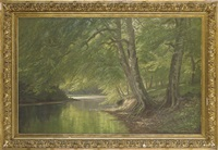 a quiet stretch of river by august jacobsen