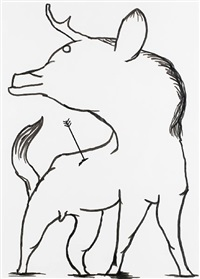 untitled (wild animal) by david shrigley