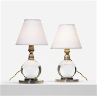 table lamps model no. 7706, pair by jacques adnet
