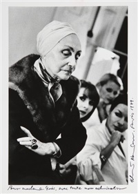 madame grès, paris by helmut newton