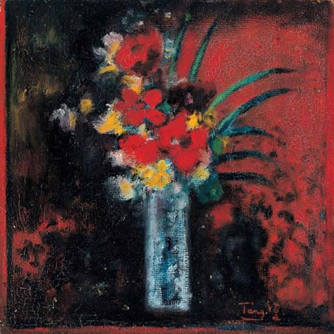 bouquet in red background by tang haywen