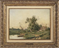 landscape by gustave adolph wiegand