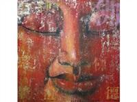bouddha rouge n°12 by ma tse lin