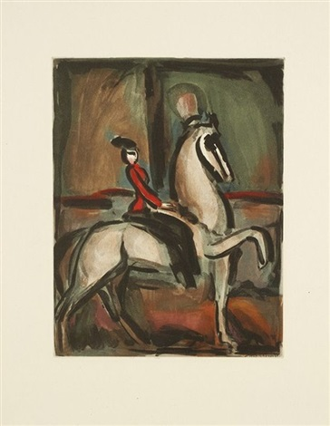 amazone for andré suarès cirque by georges rouault