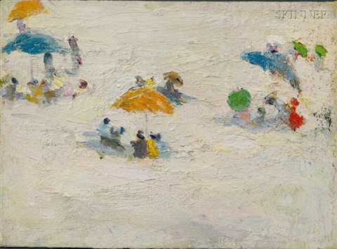 beach scene by gertrude fiske