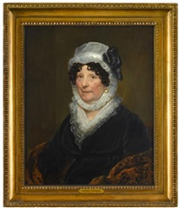 portrait of dolley madison (1768-1849) by samuel f.b. morse