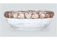 bowl: mesanges by rené lalique