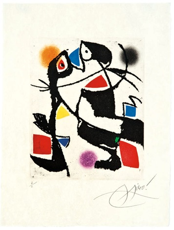 untitled from le marteau sans maitre by joan miró