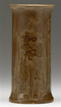 cylindrical vase by grand feu art pottery