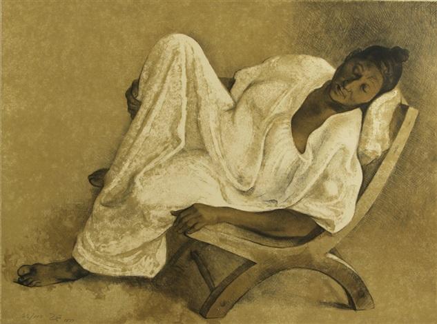 reclining woman by francisco zúñiga