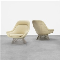 Lounge Chairs, Pair, 1966   1980