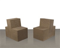 sandstone chair i & ii (in 2 parts) by scott burton