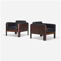 lounge chairs, pair by isamu kenmochi