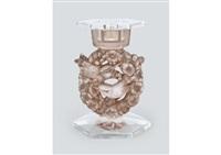 candle stand: mesanges by rené lalique