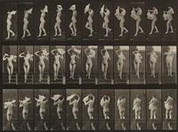 nude woman walking, plate 133 from animal locomotion by eadweard muybridge